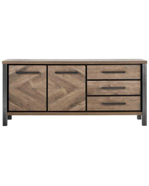 Dressoir houtstructuur en metaal