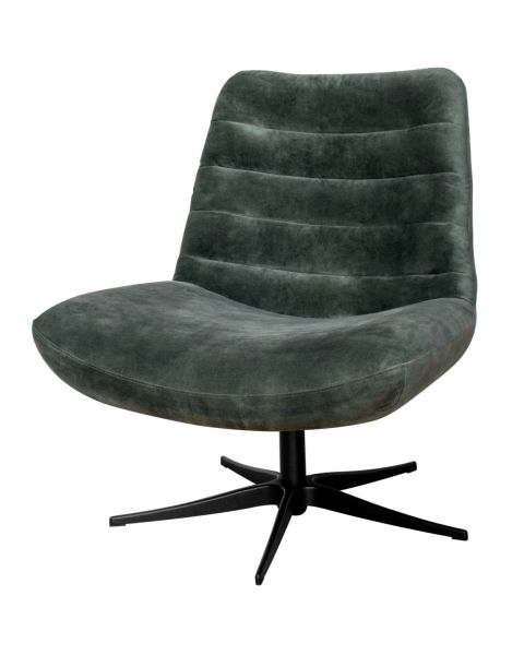 Comfortabele Draaifauteuil Stripe - Velours Groen