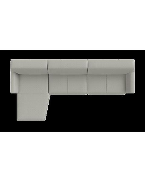 Malaga - curved longchair links - 4 zits arm rechts