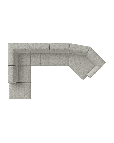 Malaga - ottomane klein links - hoek - 3 zits - zonder arm - lounge end rechts