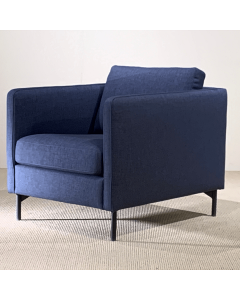 IN.HOUSE Fauteuil Nanto - Stof Blauw