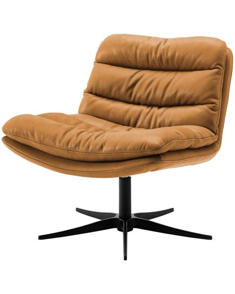 Lounge Fauteuil Lazy Lage Rug Bull Camel