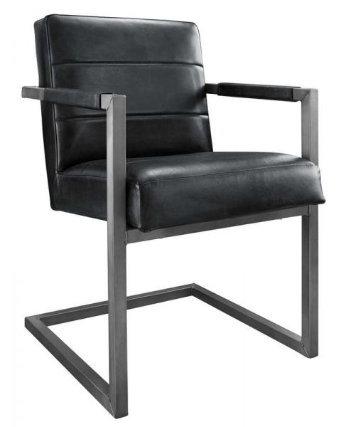 Armstoel Cadira met 3 stroken zwart
