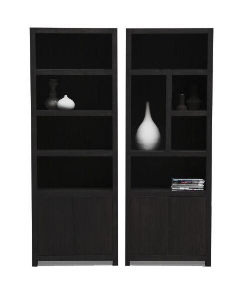 Moderne Boekenkasten Diamond Set Zwart Links