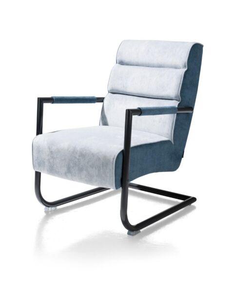 xooon-fauteuil-luzern-Zwart-Frame-Lichtblauw