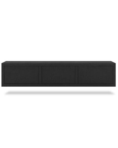 Zwevend TV-meubel Juwel Zwart 180cm